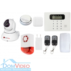 Полный комплект охранной GSM сигнализации с видеокамерой PoliceCam GSM 30C Video Alarm Wally