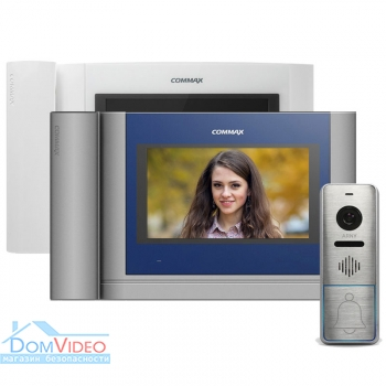 Картинка Комплект видеодомофона Commax CDV-704MHA + ARNY AVP-NG420 1MP