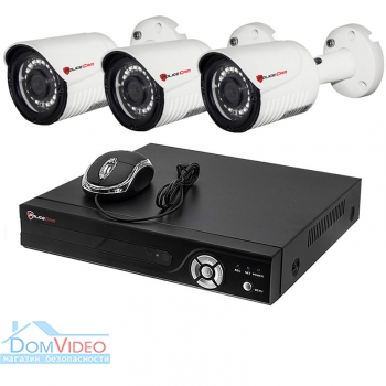 Картинка Комплект видеонаблюдения на 3 камеры PoliceCam PC-516MHD 2MP 4in1 + XVR-6104