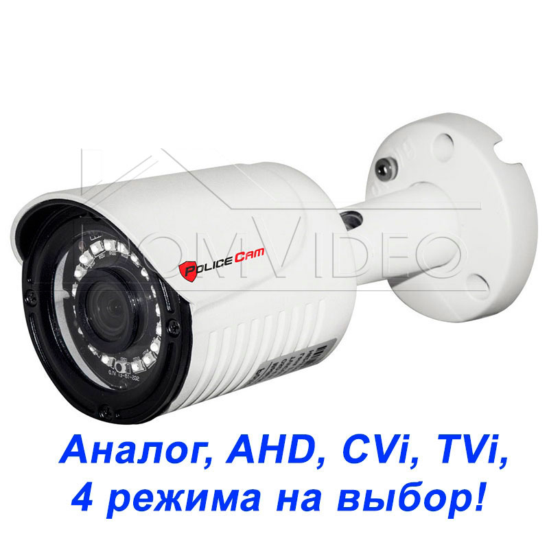 Картинка MHD видеокамера PC-516MHD 2MP 4in1 PoliceCam